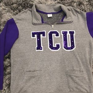 1/4 zip sweatshirt TCU
